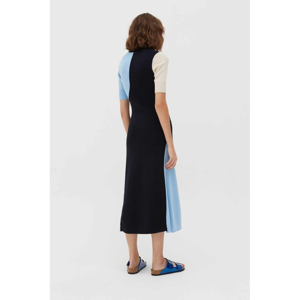Chinti & Parker Colour Block Dress Navy and Cream