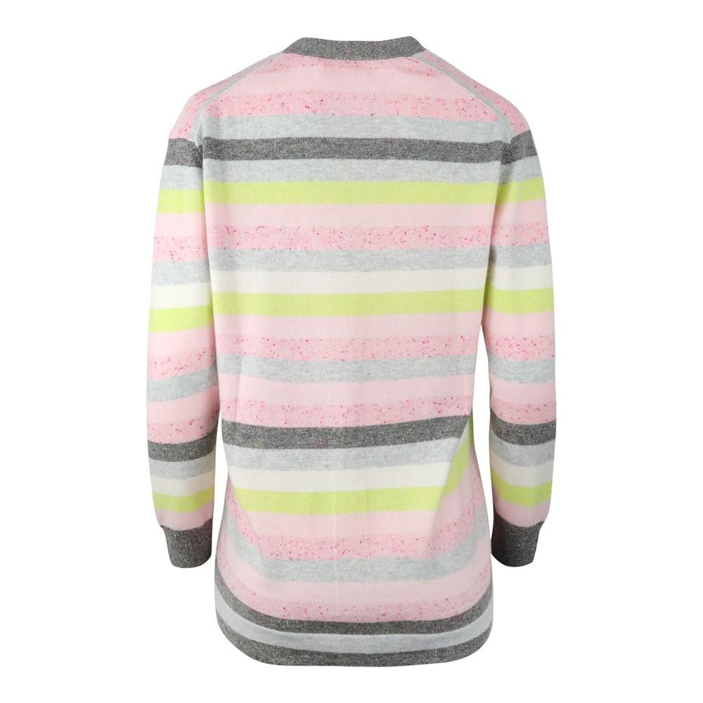 Cocoa Cashmere Jessica Cardigan Grey/Pink