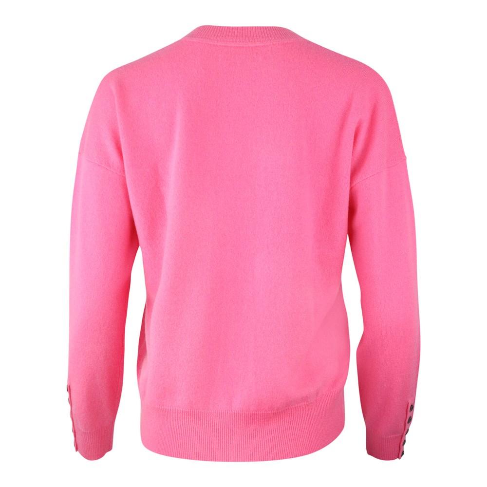 Cocoa Cashmere Hulu V Neck Cashmere Jumper Pink