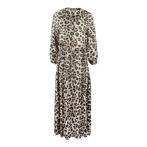Pyrus Frances Muted Cheetah Print Dress