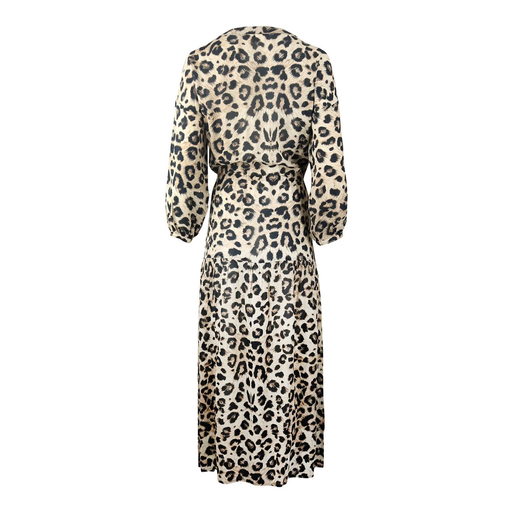 Pyrus Frances Muted Cheetah Print Dress Animal Print