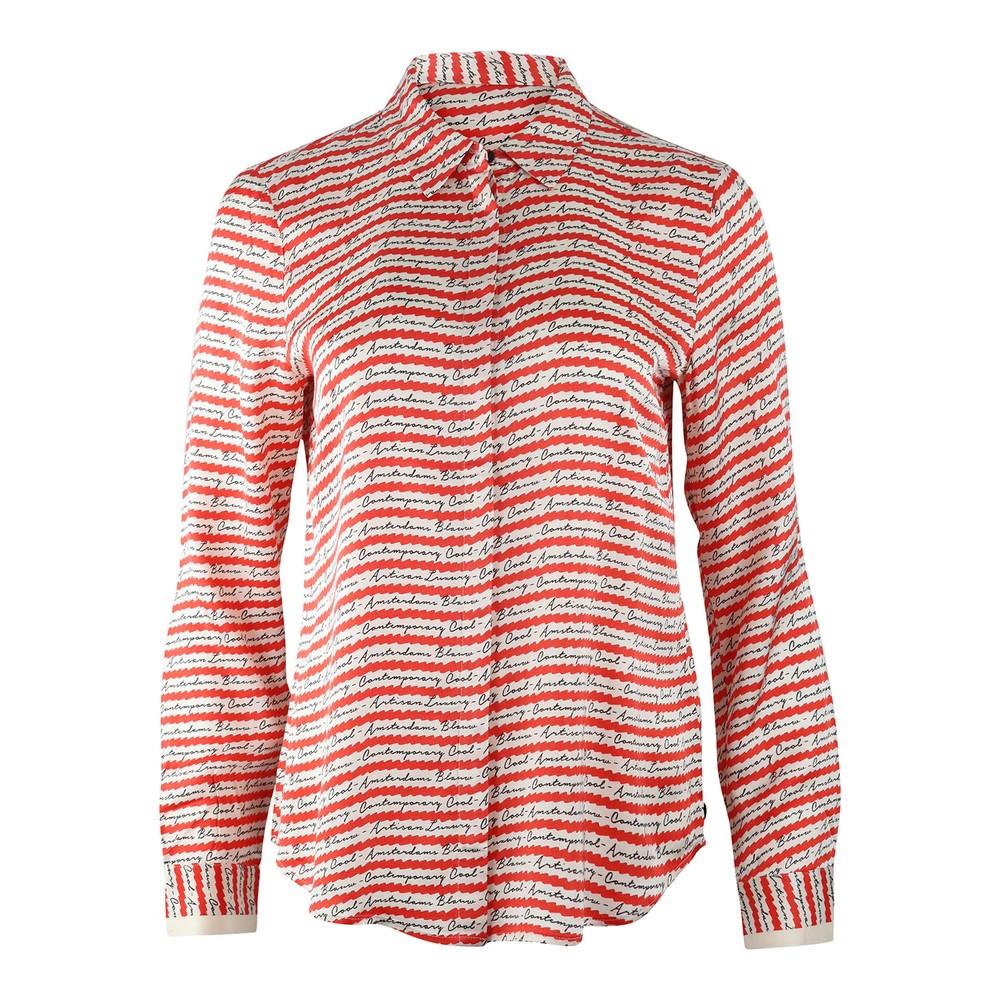 Scotch & Soda Drapey Seasonal Patterned Shirt Pink
