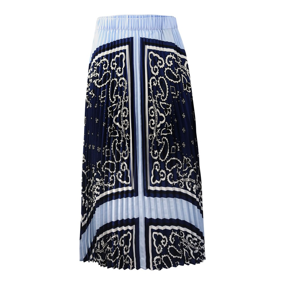 Scotch & Soda Ams Blauw Pleated Skirt Blue