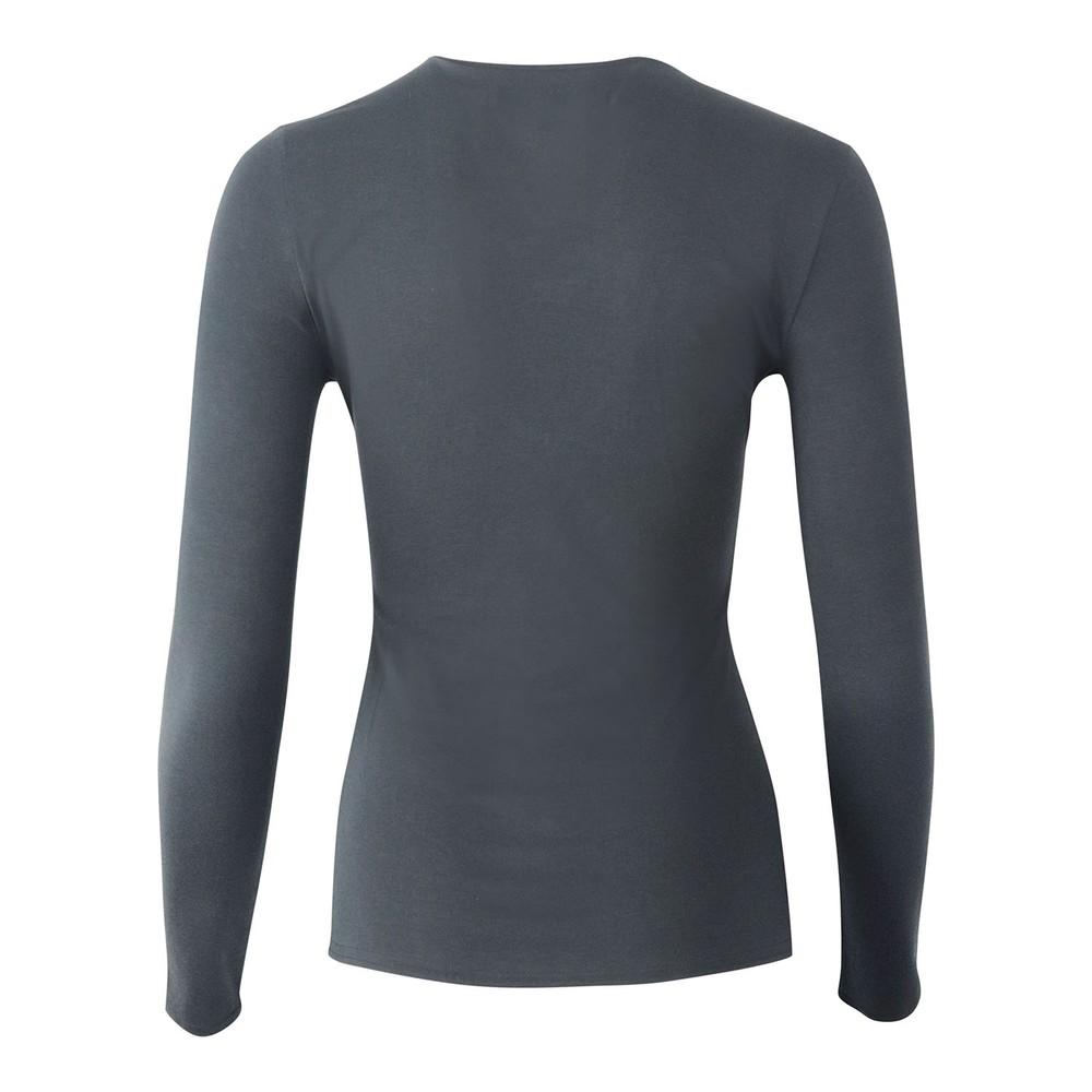 J Brand Runway Long Sleeve V Neck T-Shirt Black