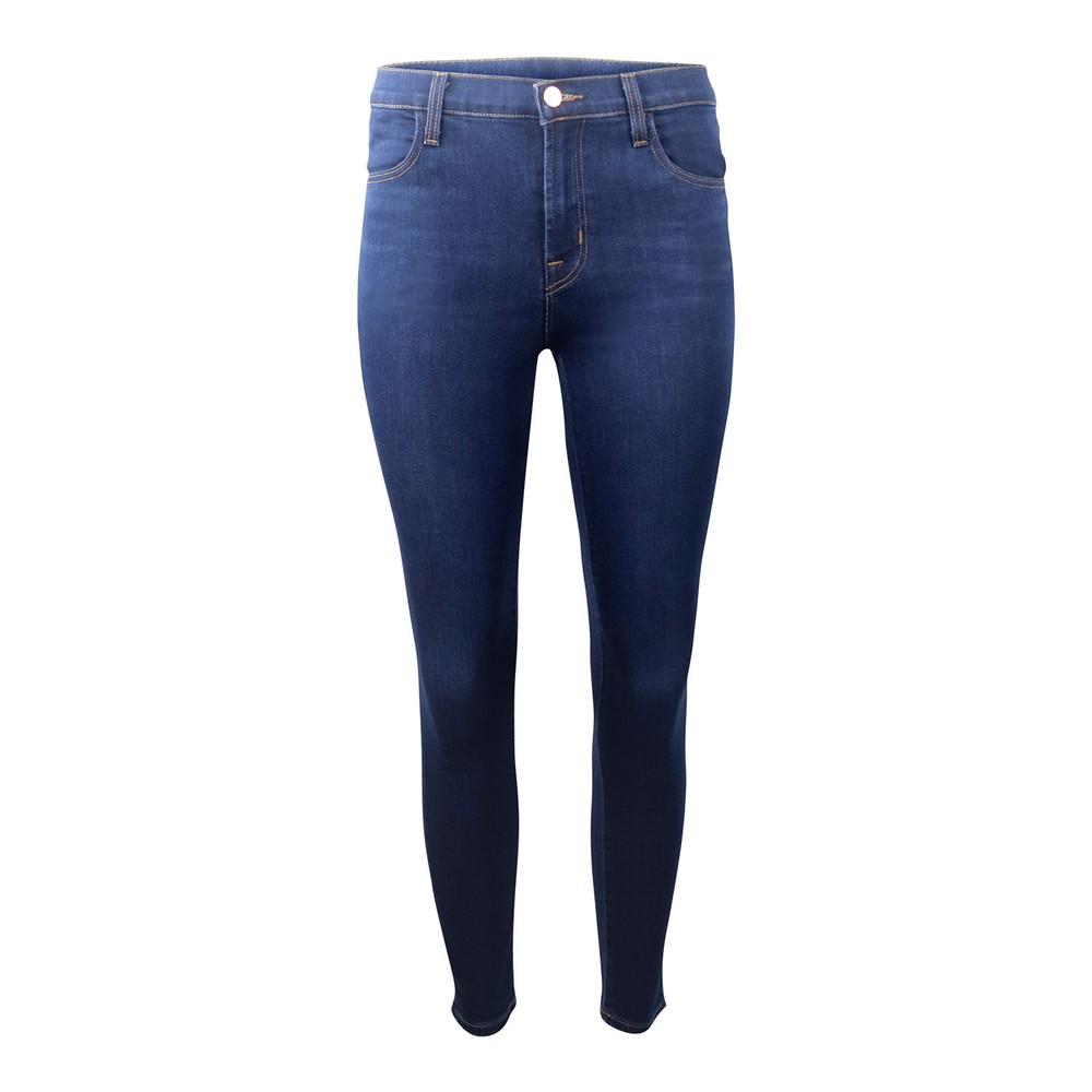 J Brand Alana High Rose Croppy Skinny Jeans Dark Denim