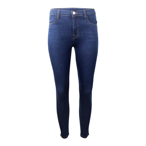 J Brand Alana High Rose Croppy Skinny Jeans in Dark Denim