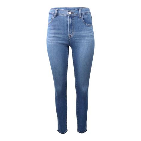 J Brand Alana High Rose Croppy Skinny Jeans in Mid Wash Denim