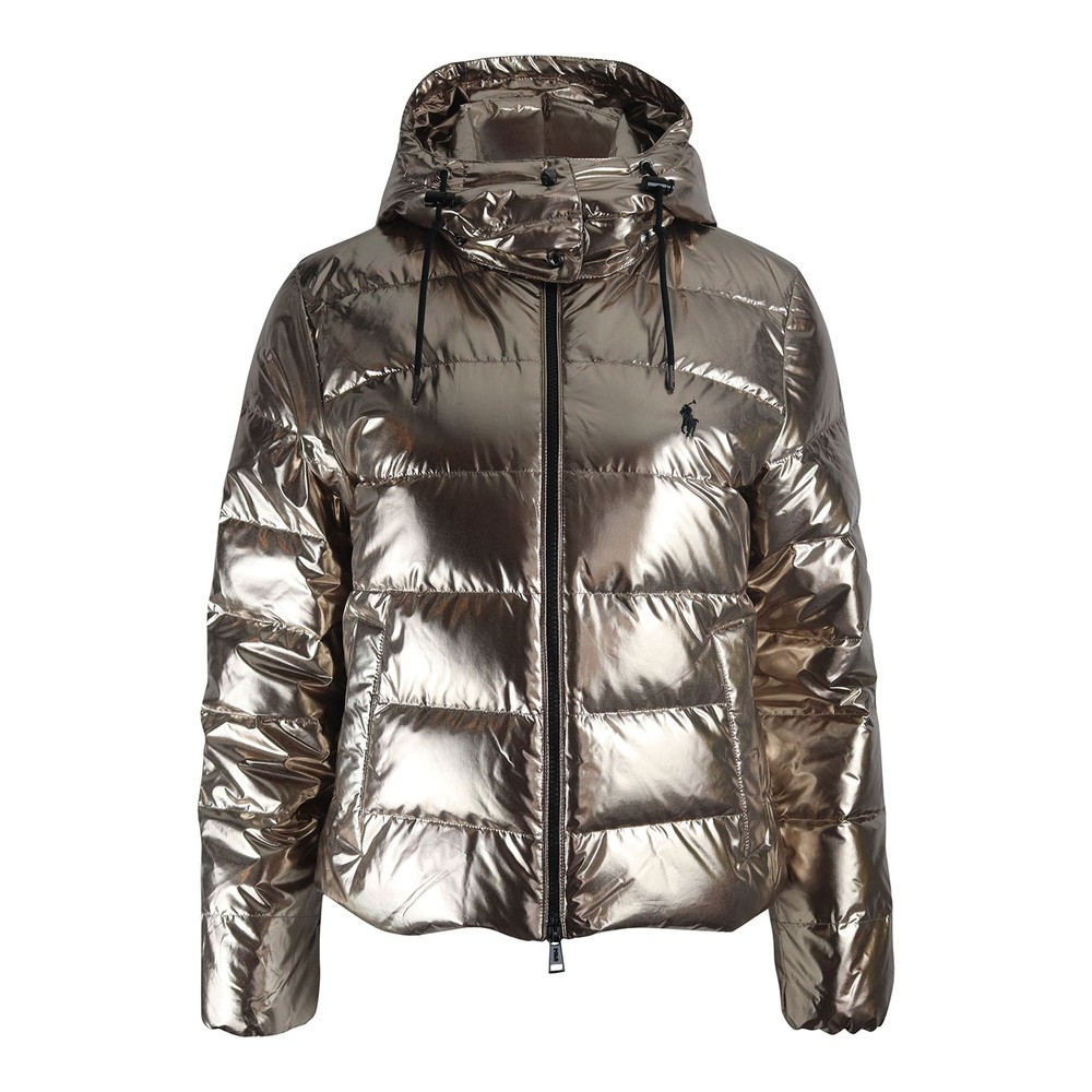 Ralph Lauren Womenswear Metallic Puffa Jacket Silver