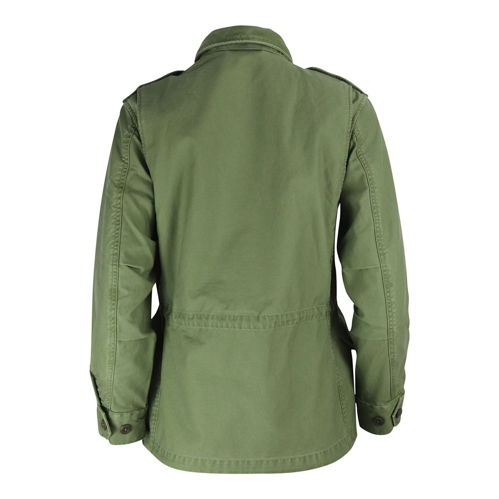 Ralph Lauren Womenswear Military Jacket with Pins Olive