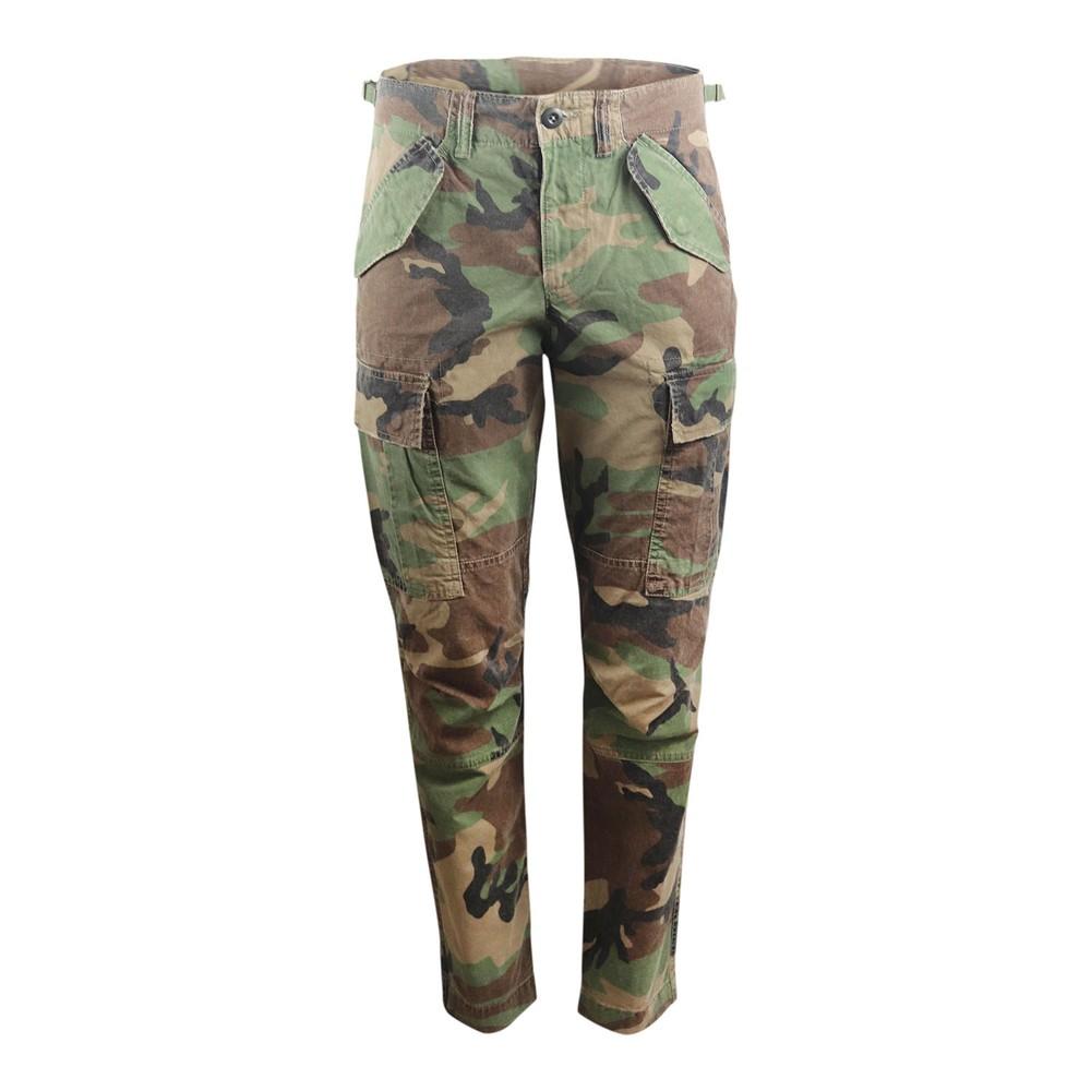 Ralph Lauren Womenswear Camo Trousers Green