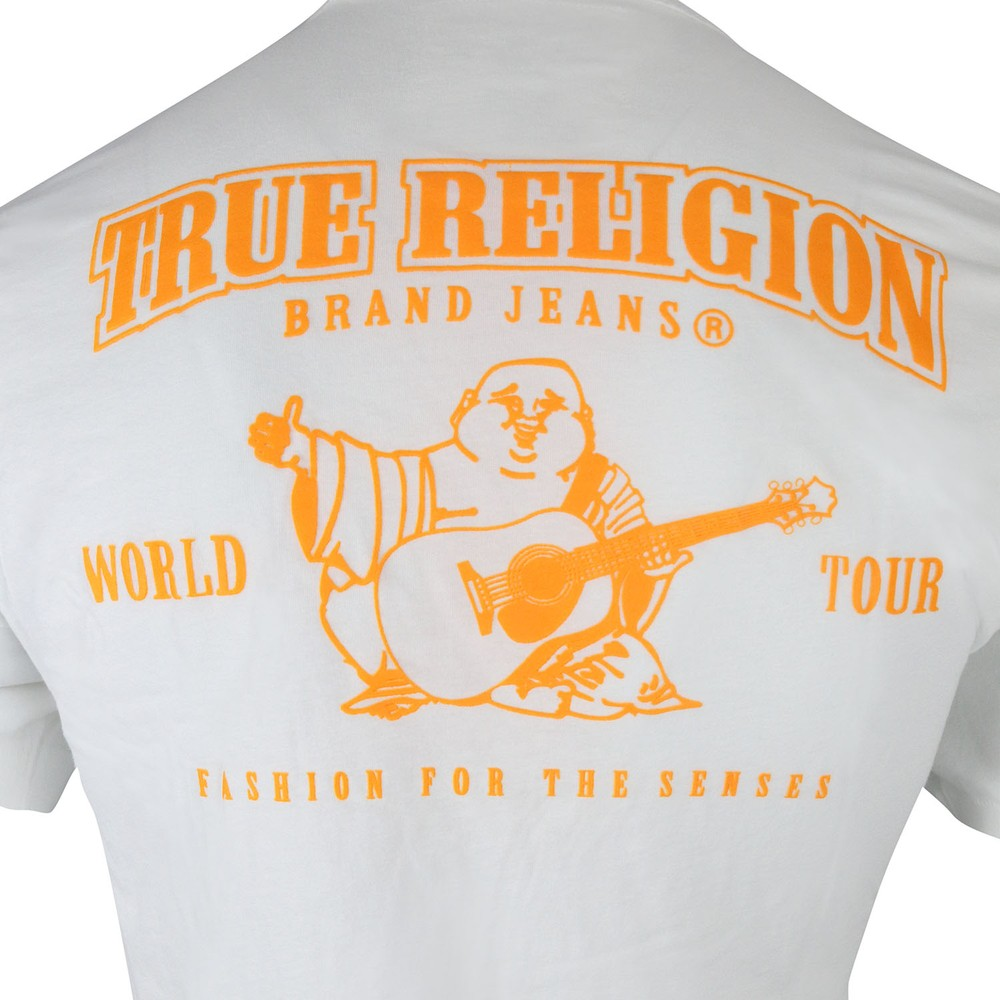True Religion DBL Puff Logo Crew T-Shirt White