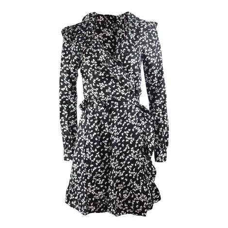 Michael Kors Long Sleeve Frilled Wrap Dress