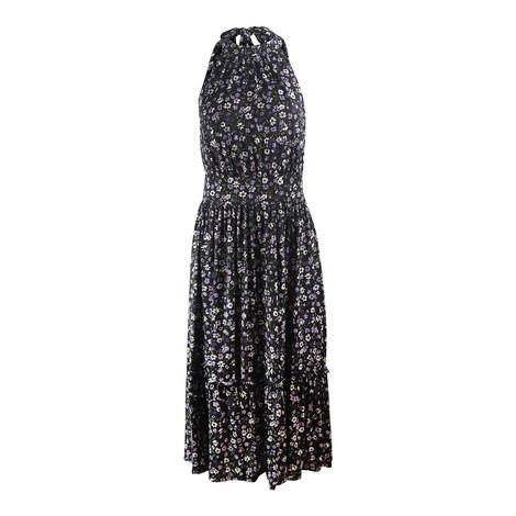 Michael Kors Sleeveless Tiered Midi Dress