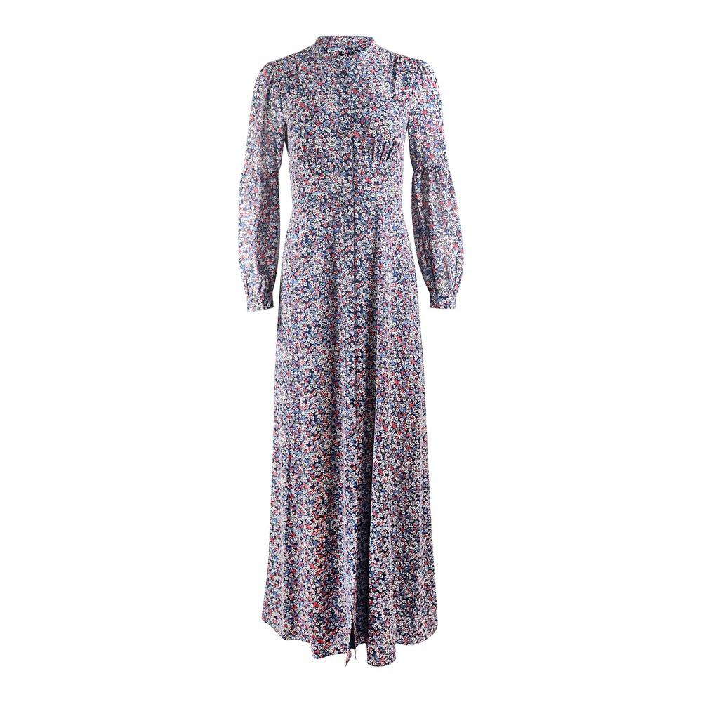 Michael Kors Floral Maxi Shirt Dress Floral
