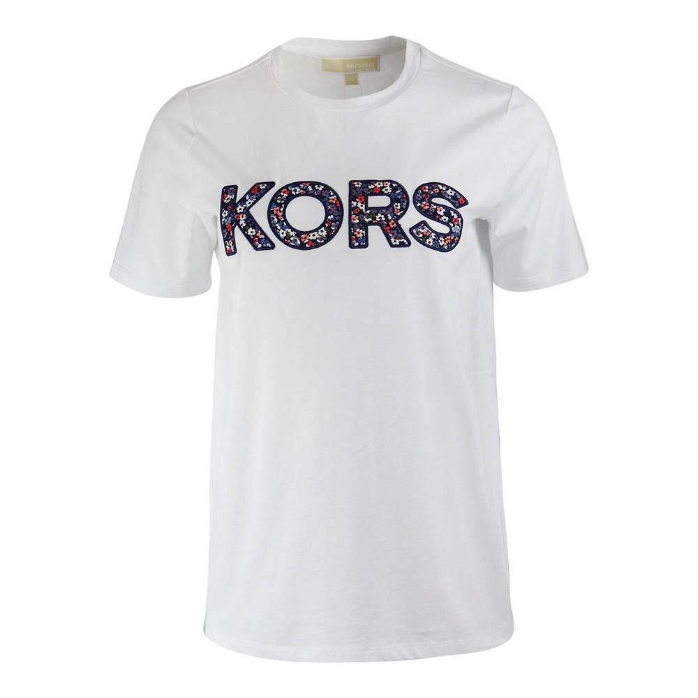 Michael Kors Floral Kors T-Shirt White