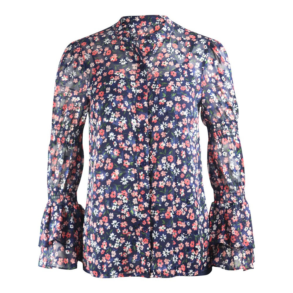 Michael Kors Long Sleeve Shirt Coral