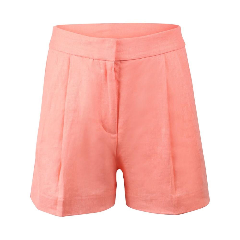 Michael Kors Linen Shorts Coral