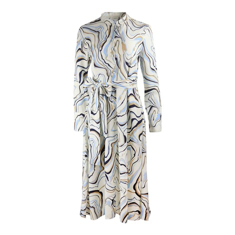 Chinti & Parker Marble Button Down Shirt Dress