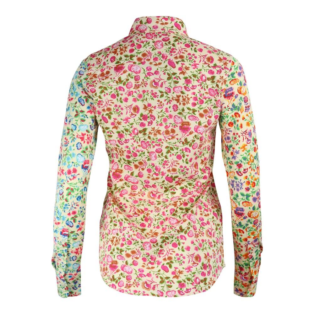 Ralph Lauren Womenswear Floral Printed Heidi Knit Oxford Shirt Multi