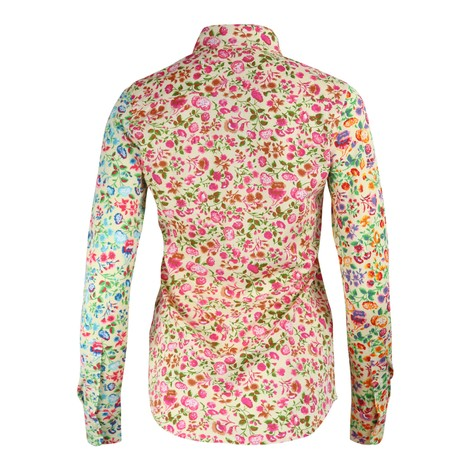 Ralph Lauren Womenswear Floral Printed Heidi Knit Oxford Shirt