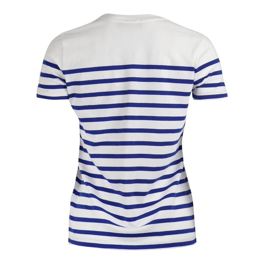 Ralph Lauren Womenswear Striped Love Tee White