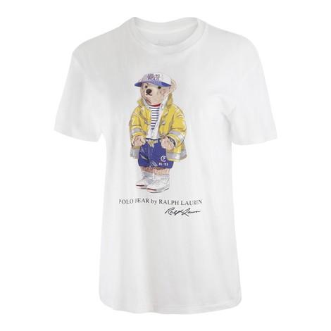 Ralph Lauren Womenswear Bear Tee in White
