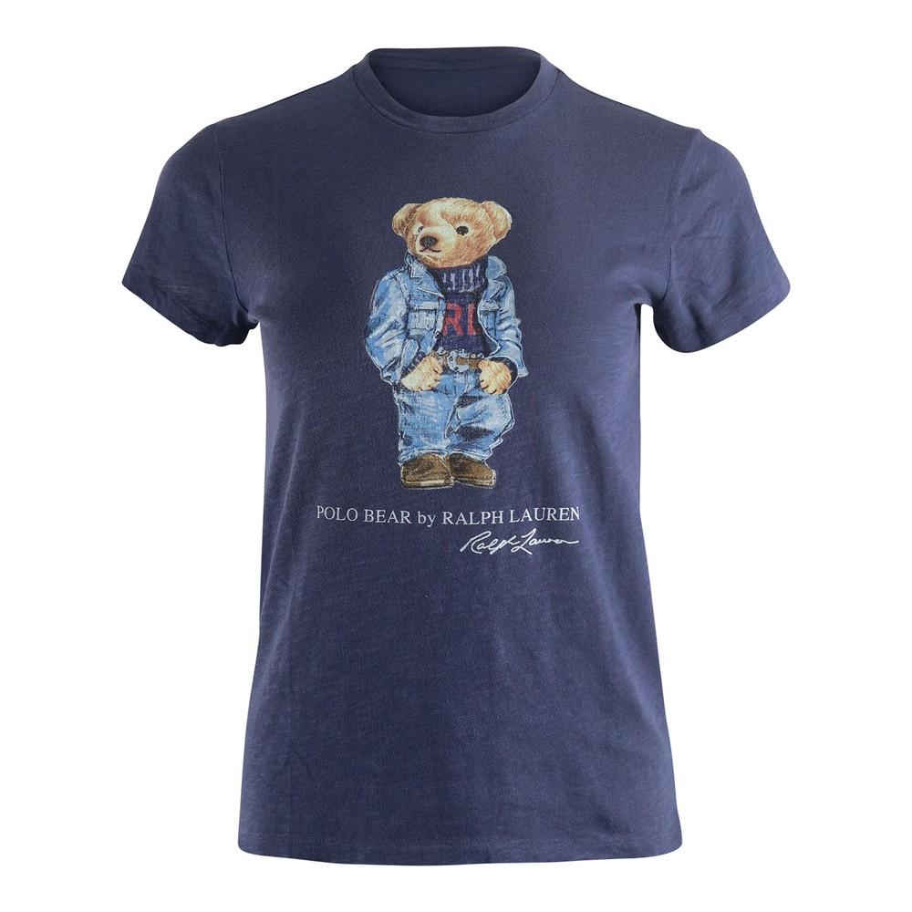 Ralph Lauren Womenswear Bear Tee Navy