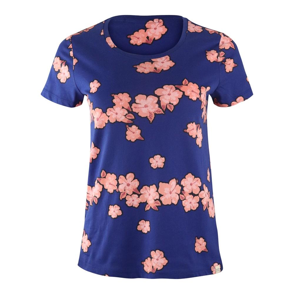 Scotch & Soda Printed Boxy Fit T-Shirt Blue