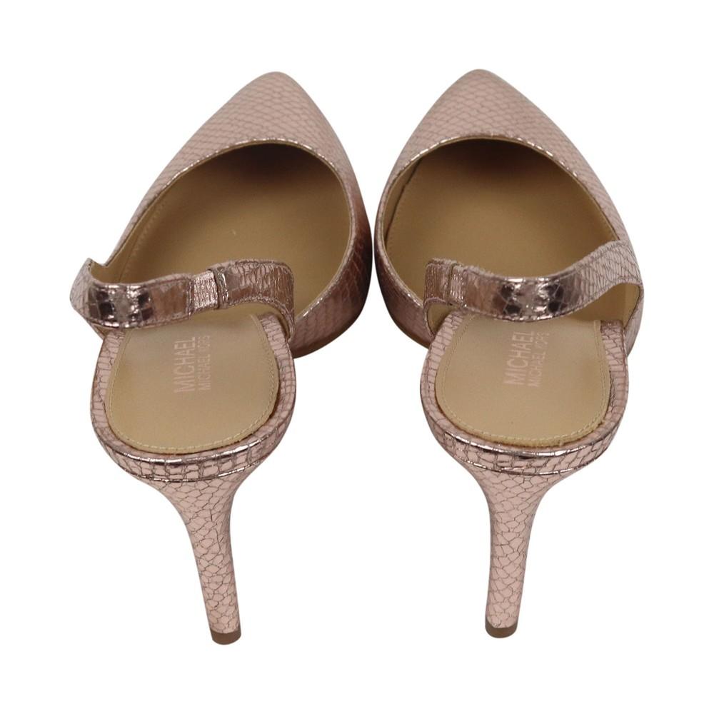 Michael Kors Lucille Mid Heel Shoe Metallic