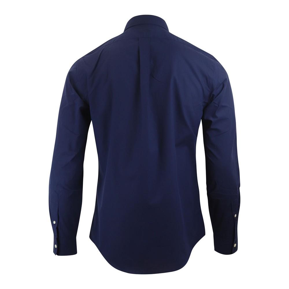 Ralph Lauren Menswear SL BD PPC SPT - Natural Stretch Poplin Shirt Navy