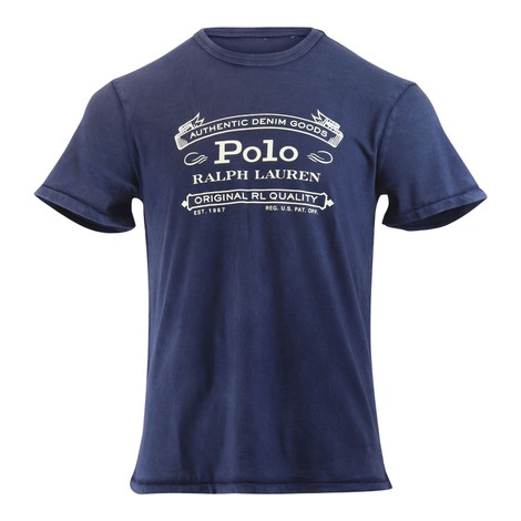 Ralph Lauren Menswear Short Sleeve Slub Jersey T-shirt