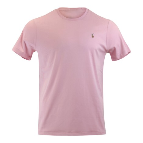 Ralph Lauren Menswear Short Sleeve Pima Tee in Pink