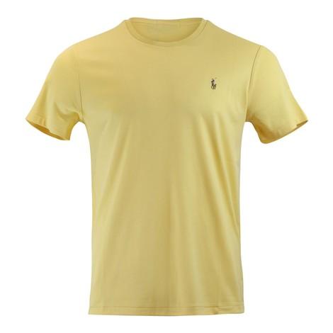 Ralph Lauren Menswear Short Sleeve Pima Tee in Yellow
