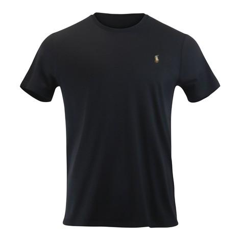 Ralph Lauren Menswear Short Sleeve Pima Tee in Black