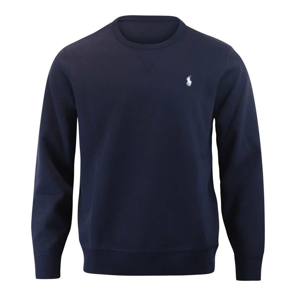 Ralph Lauren Menswear Long Sleeve Double Tech Knit Jumper Navy