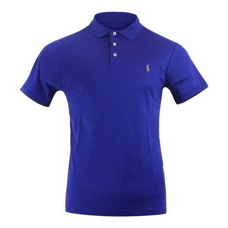 Ralph Lauren Menswear Short Sleeve Knit Pima Polo - Royal Blue