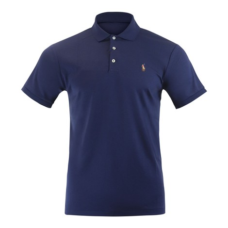 Ralph Lauren Menswear Short Sleeve Knit Pima Polo - Navy