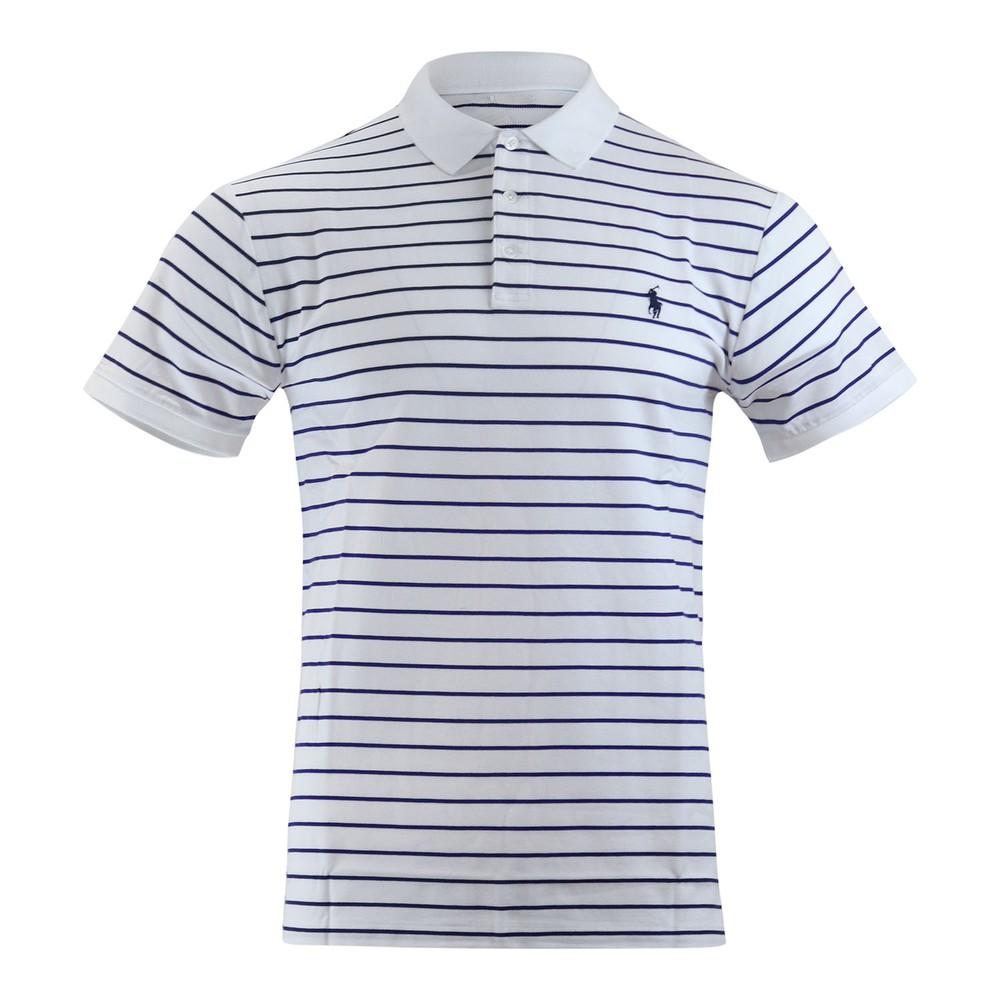 Ralph Lauren Menswear Stretch Mesh SS Polo Stripe White/Navy