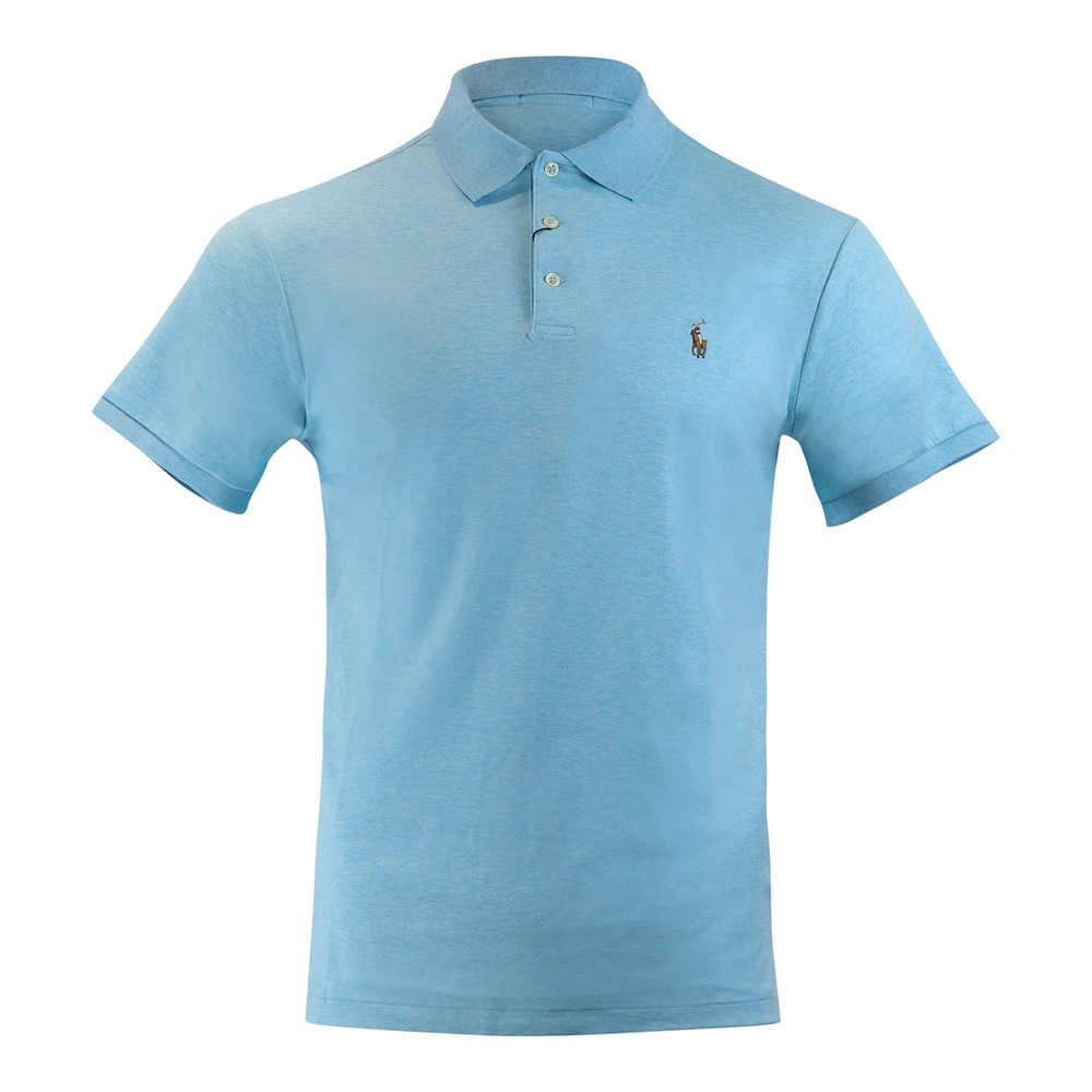 Ralph Lauren Menswear Short Sleeve Knit Pima Polo Aqua