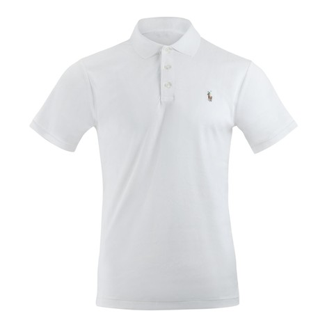 Ralph Lauren Menswear Short Sleeve Knit Pima Polo