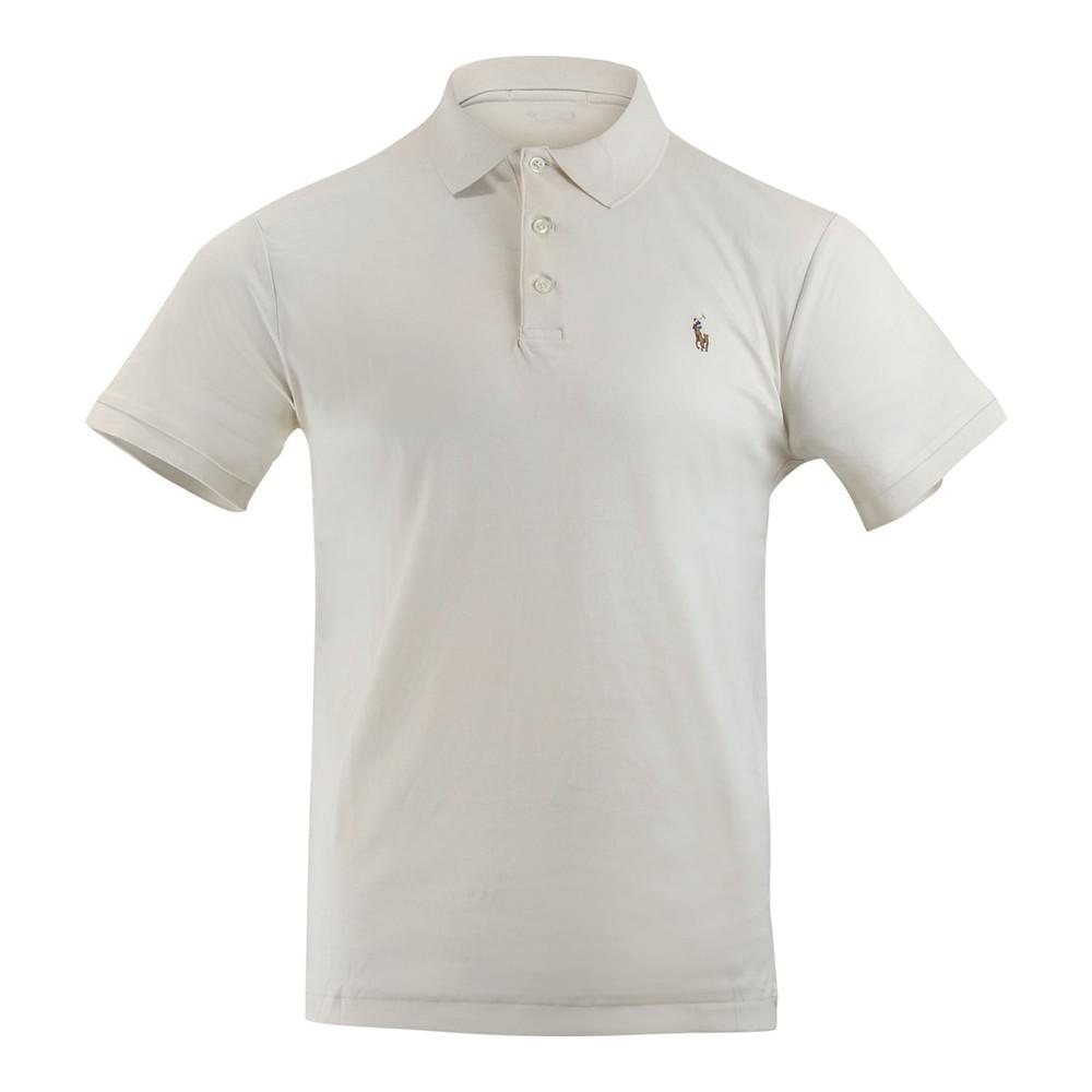 Ralph Lauren Menswear Short Sleeve Knit Pima Polo Cream