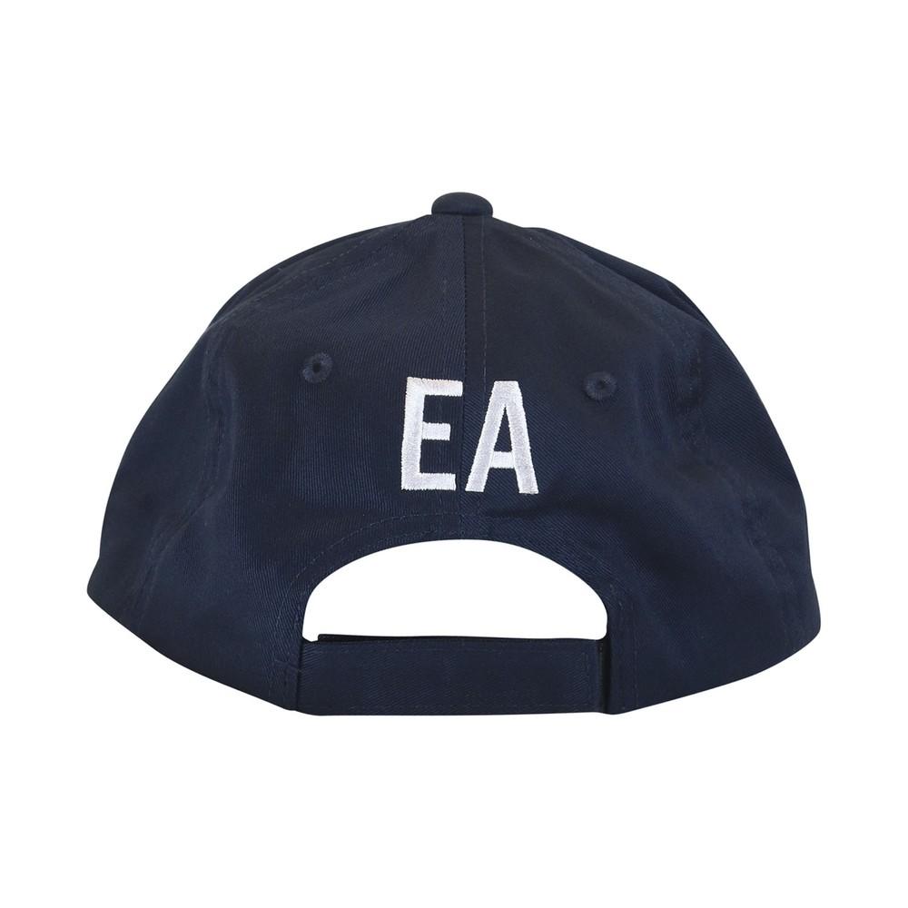 Emporio Armani Baseball Cap With Embroidery Logo Blue and White