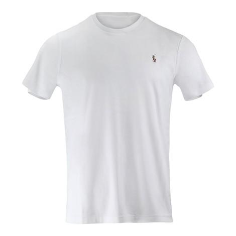 Ralph Lauren Menswear Short Sleeve Pima Tee in White