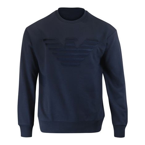Emporio Armani Embossed Armani Logo Crew Neck Sweat
