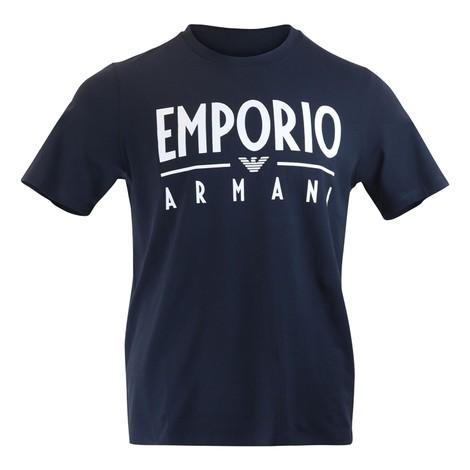 Emporio Armani Emporio Armani Large Print Tee in Dark Navy