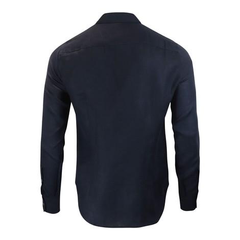 Emporio Armani Linen Shirt With Piping