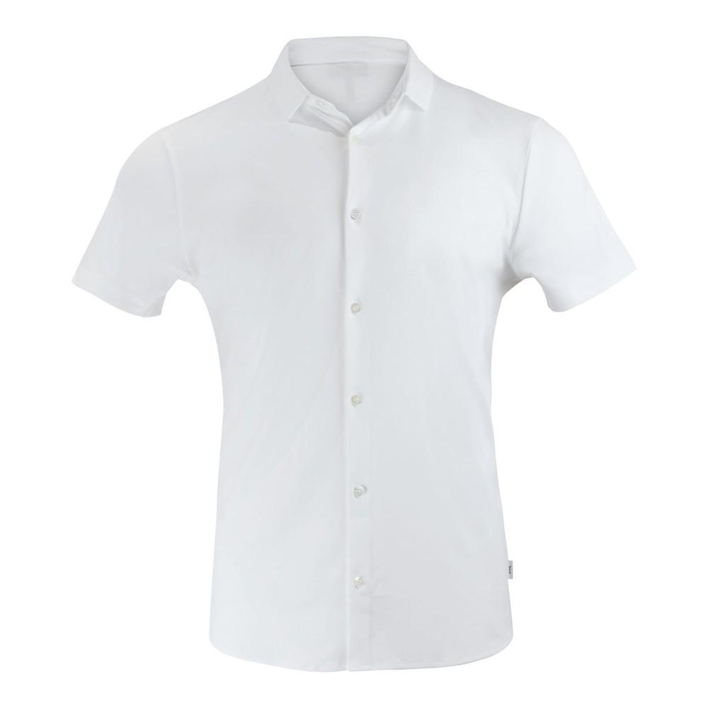 Emporio Armani Short Sleeve Cotton Jersey Shirt White