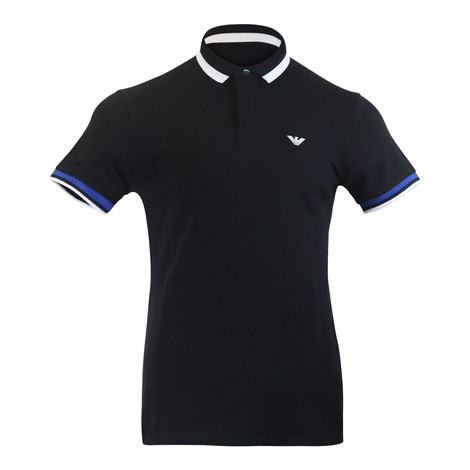 Emporio Armani Short Sleeved Polo With Bold Trim