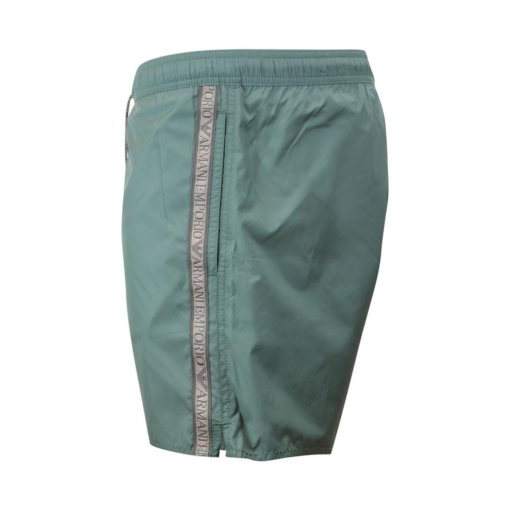 Emporio Armani Swim Shorts With Tape Green