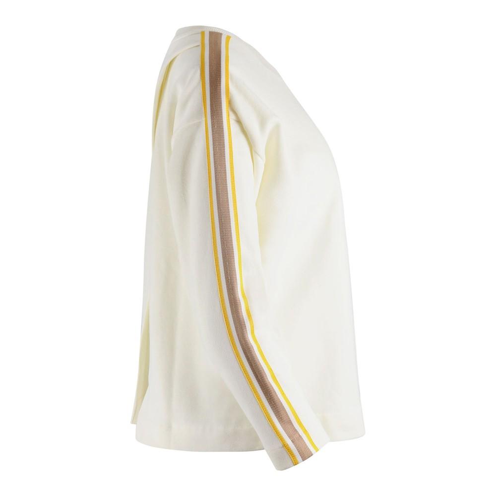 Chinti & Parker Open Back Sweatshirt Off White